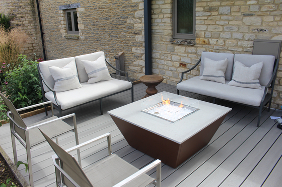 Aztec Gas Fire Table by Rivelin