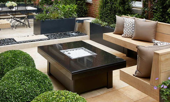 Bahama Gas Fire Table by Rivelin