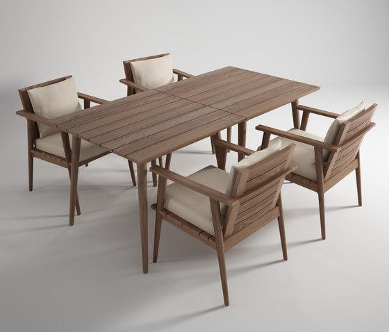 Vintage Outdoor SQUARE DINING TABLE de Karpenter