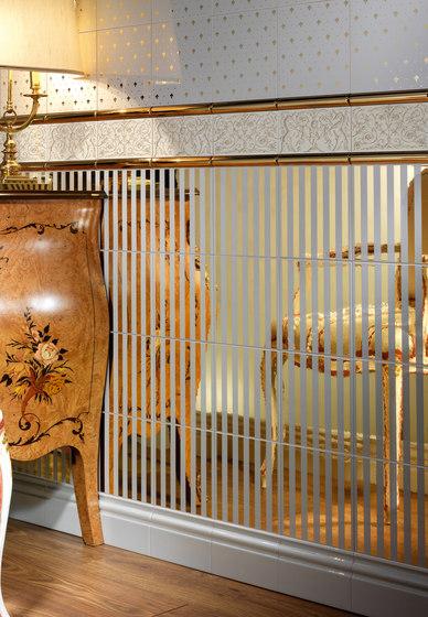 Grand Elegance Gold riga grande oro su bordeaux von Petracer's Ceramics