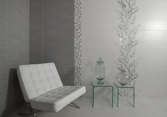 Fresh malla grafito ceramic mosaics from keraben for Carrelage keraben