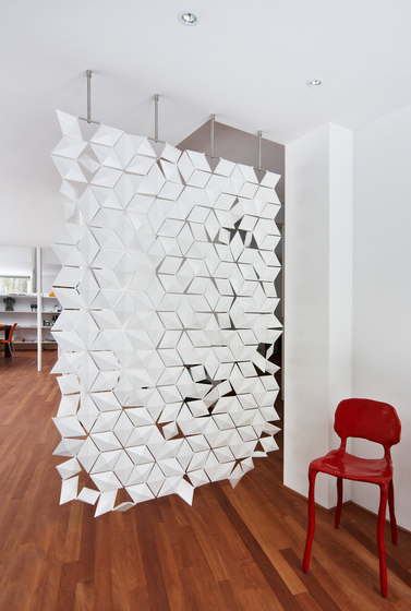Hanging Room Divider Facet - pearlgray by Bloomming