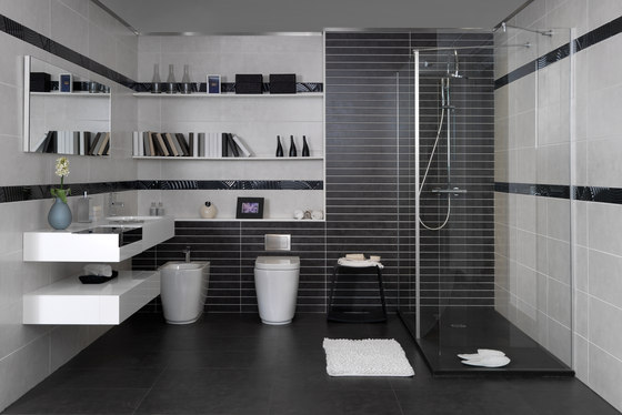 Living gris tiles from keraben architonic for Marmol negro y blanco