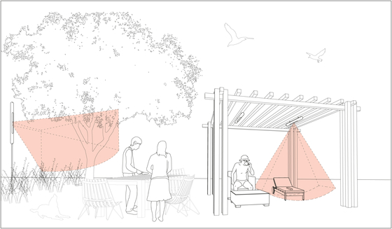 Pergola vertical by Architettura Sonora