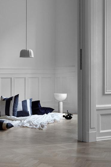 Kizu Table Lamp White Marble w. White Acrylic by NEW WORKS