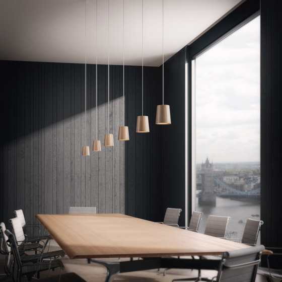Core | Three Pendant Cluster in Nero Marquina Marble di Terence Woodgate