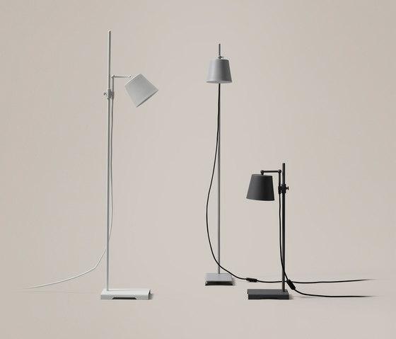 Steel Lab Light floor white by Karakter Copenhagen