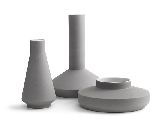 Vases 3 grey by Karakter