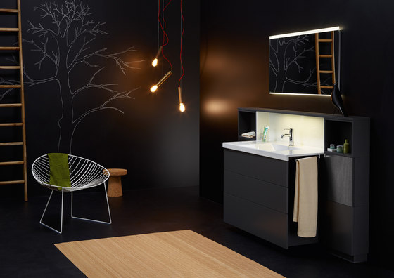 cconceptwall waschpl tze von burgbad architonic. Black Bedroom Furniture Sets. Home Design Ideas