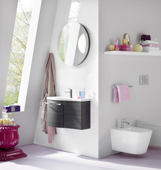 Sinea | Glass washbasin incl. vanity unit by burgbad