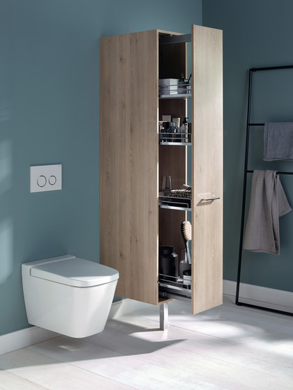 Sys30 | Mirror cabinet with lateral LED illumination incl. indirect lighting of washbasin di burgbad
