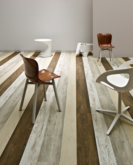 Allura Wood green reclaimed wood by Forbo Flooring