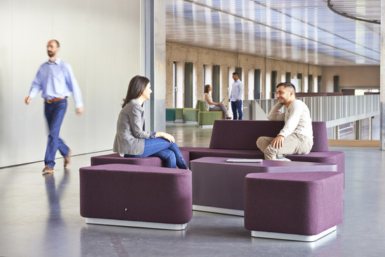 Organic Office Lounge Modules by Viasit