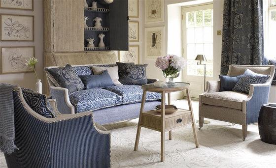 Indigo Bleu Fabrics | Scillo - Indigo de Designers Guild