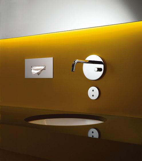 eMote / eTech - Wall-mounted infrared basin mixer by Dornbracht