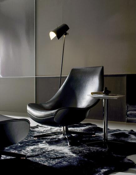 Oyster Sessel Rückenlehne ergonomisch Kuhfell Optik