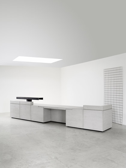 Lintel Reception Desk Configuration 7 de Isomi