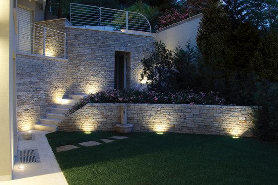 Chiara Mid-Power LED / Ghiera in Acciaio Inox - Vetro Sabbiato - 24Vdc di Ares