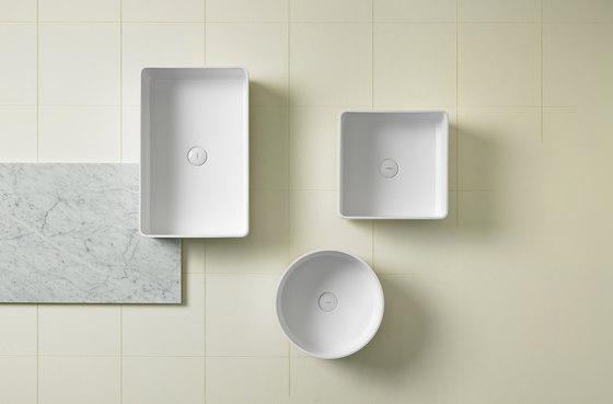 Glaze Square Undermount Ceramilux® Sink di Inbani