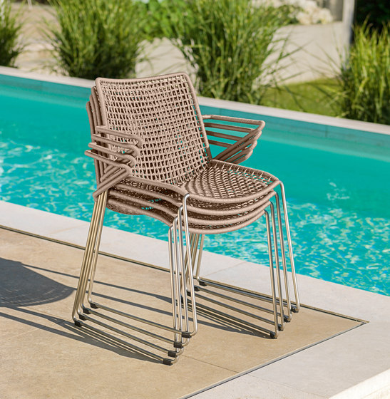 Slope Lounge Chair with Stool de Weishäupl