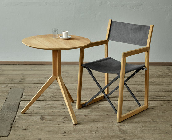 Trio Bistro Table, Tabletop Teak by Weishäupl