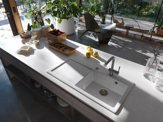Mythos Sink MTK 210-58 Ceramic Glacier by Franke Home Solutions