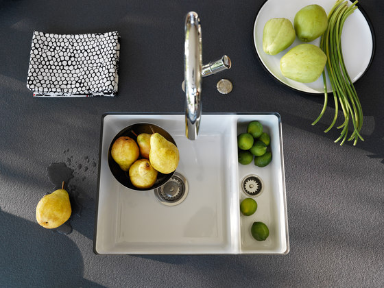 Kubus Sink KBK 110-40 Ceramic Glacier by Franke Home Solutions