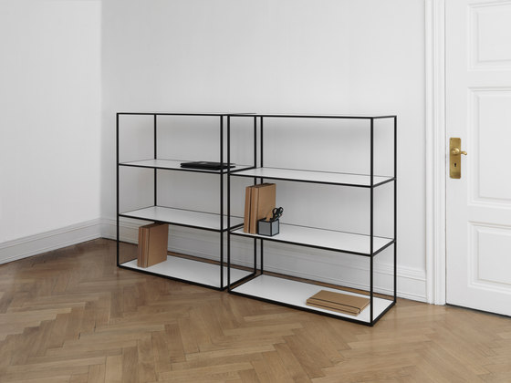 Twin Bookcase black by by Lassen