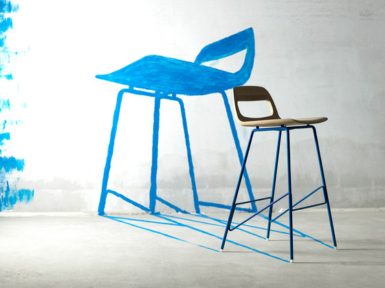 Leina bar chair | regular | 46,5x48,5x94 von Gazzda
