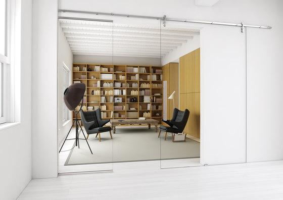 Akzent R Door System/ Roller Carriage by MWE Edelstahlmanufaktur