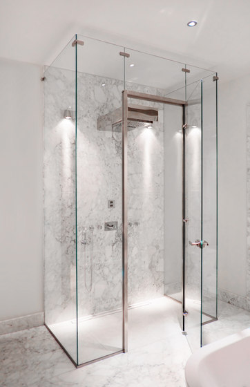 Edelstahlzarge Shower System by MWE Edelstahlmanufaktur