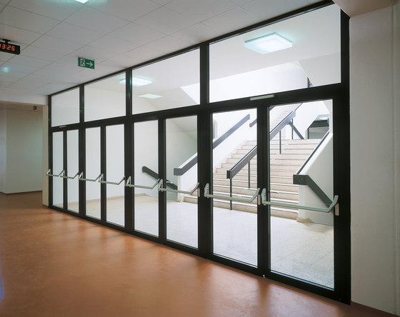 Janisol door, steel and stainless steel by Jansen