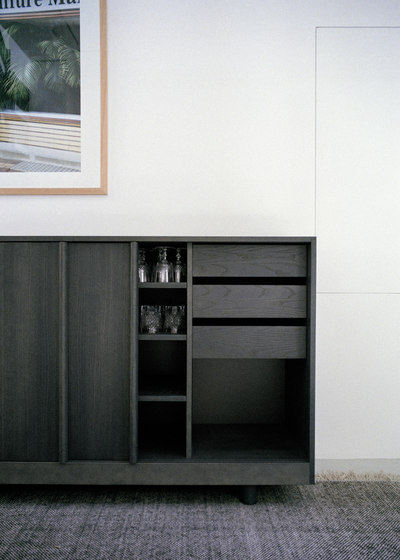 Sideboard with Sliding Doors Forest Green di Bautier