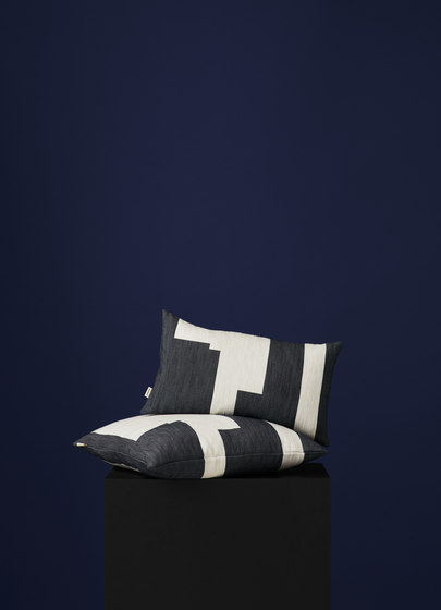 Graphic Cushion Marine Blue | Large by NEW WORKS