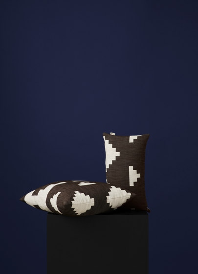 Ikat Cushion Dark Brown | Large by NEW WORKS