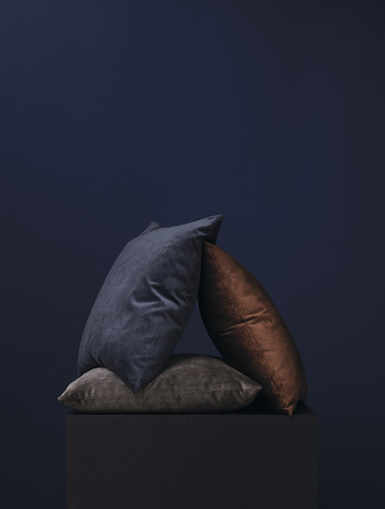 Velvet Cushion Grey by NEW WORKS