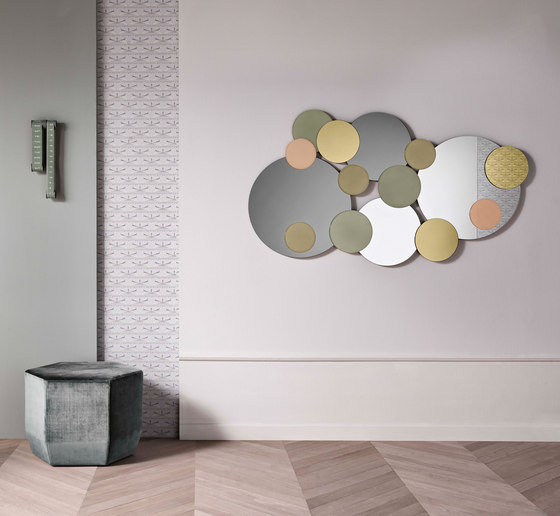 Atomic Wall mirror by Tonelli