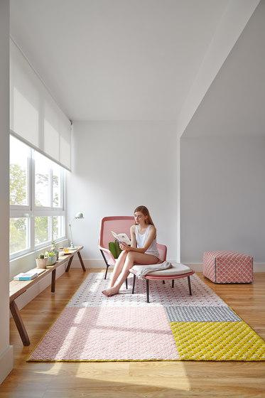 Silaï Cushion Light Grey/Blue 1 by GAN