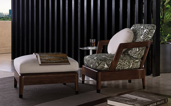 Virginia Outdoor Footstool by Minotti