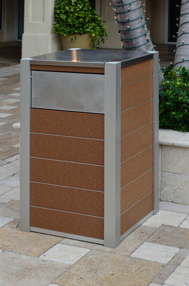 OPUS Trash and Recycling Bins by DeepStream Designs
