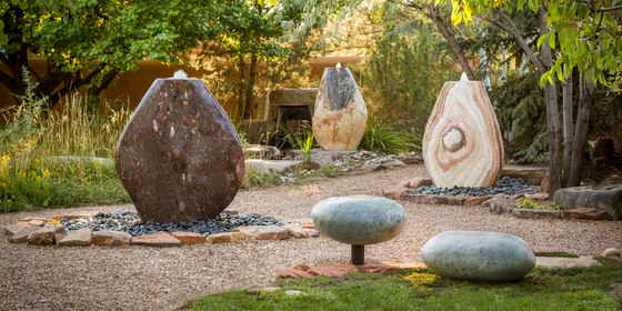 Pebble Fountain by Stone Forest