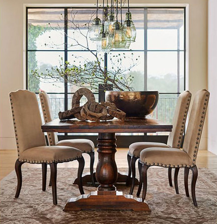 BOWRY RECLAIMED WOOD FIXED DINING TABLE Dining Tables From - Pottery barn reclaimed wood dining table