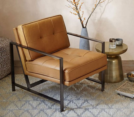 Metal Frame Leather Chair By Distributed Williams Sonoma Inc To The Trade