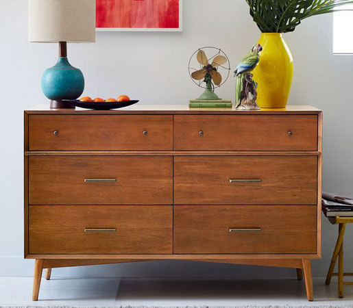 modern product furniture midcentury dealer walnut rosewood dresser chest mixed century chrome and mid
