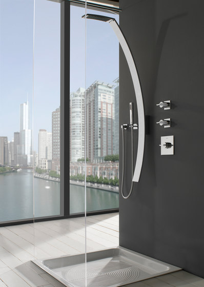 Luna - Wall-mounted washbasin spout di Graff