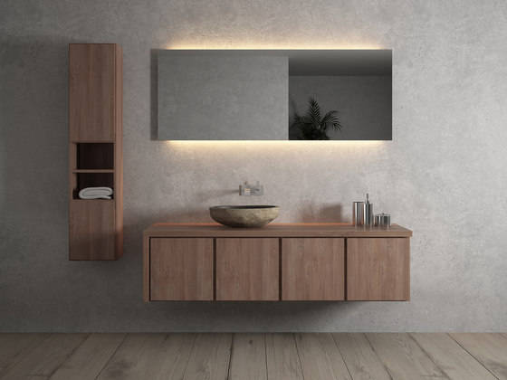 Move hanging cabinet 4 doors integrated double washbasin von Idi Studio