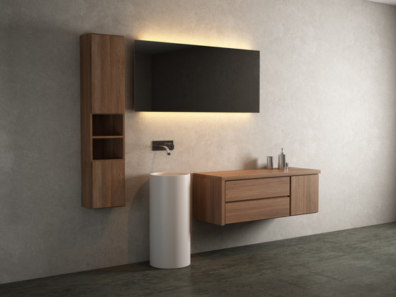 Move hanging cabinet 2 drawers integrated washbasin de Idi Studio