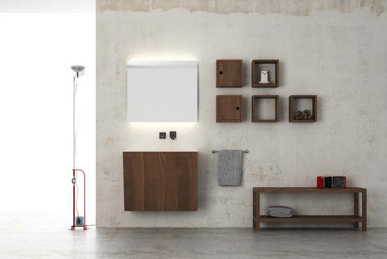 Root hanging cabinet 4 racks integrated washbasin von Idi Studio