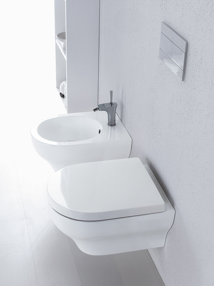 Clear - Water closet pan with cistern bottom water entrance by Olympia Ceramica