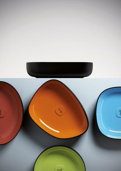 Metamorfosi - Square countertop washbasin de Olympia Ceramica